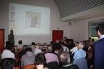 Ben Koks prezentuje wyniki badań telemetrycznych.