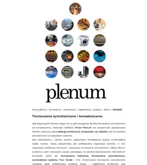 Plenum - tłumaczenie symultaniczne i konsekutywne.