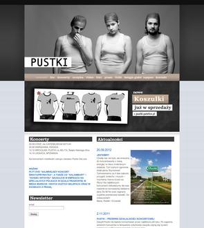 Strona zespołu Pustki