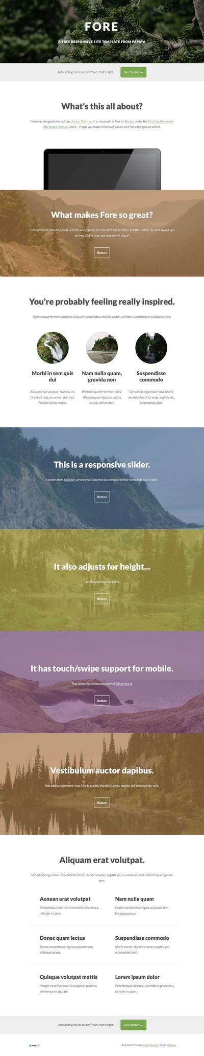 Fore-Responsive one-page