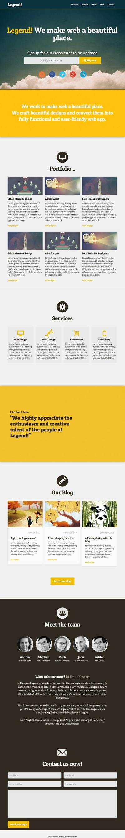 Legend-One-Page-Bootstrap-responsive