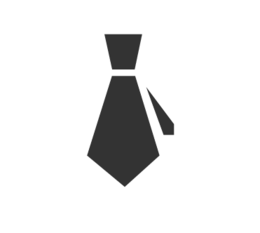 Tie icon (representing professional customer service)