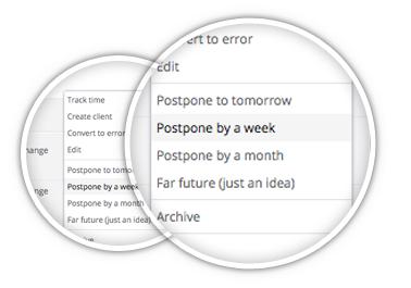 Postpone tasks
