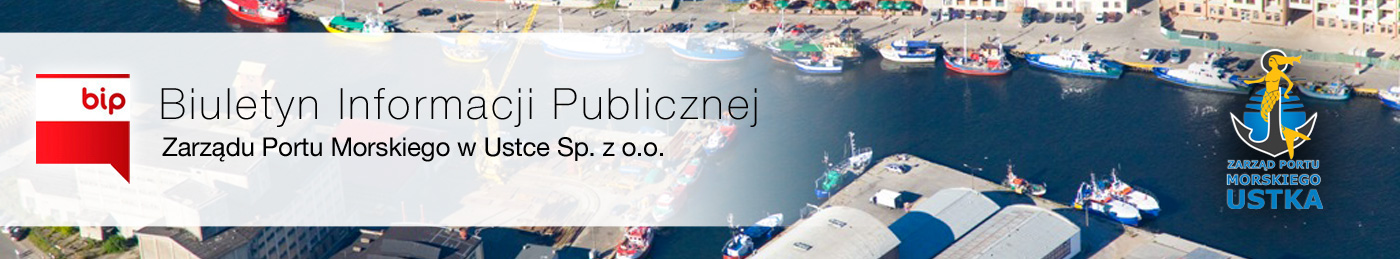 BIP Zarząd Portu Morskiego w Ustce Sp. z o.o.
