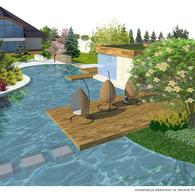 Wizualizacja stawu ogrodowego