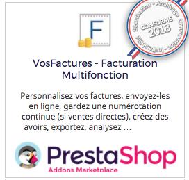 logiciel facturation personnalisée intégration Prestashop