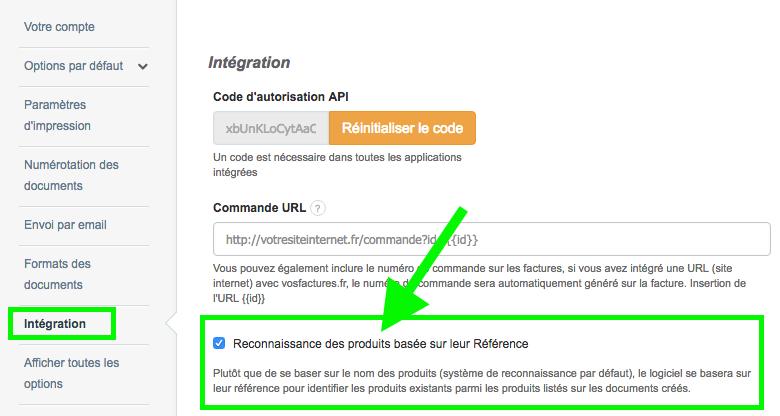 Facturation API Reconnaissance Produit Référence Article