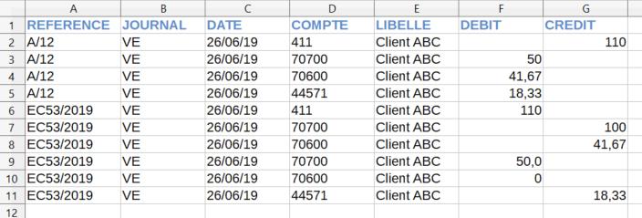 Facturation Export comptable ISACOMPTA Comptabilité
