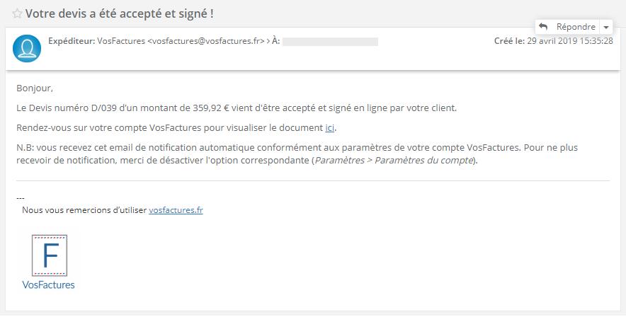 Facturation Devis Bon de Commande Signature Accepté