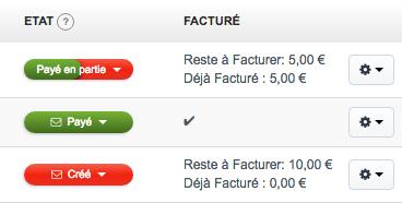 Facturation Facture Acompte Solde Devis Facturé Avancement