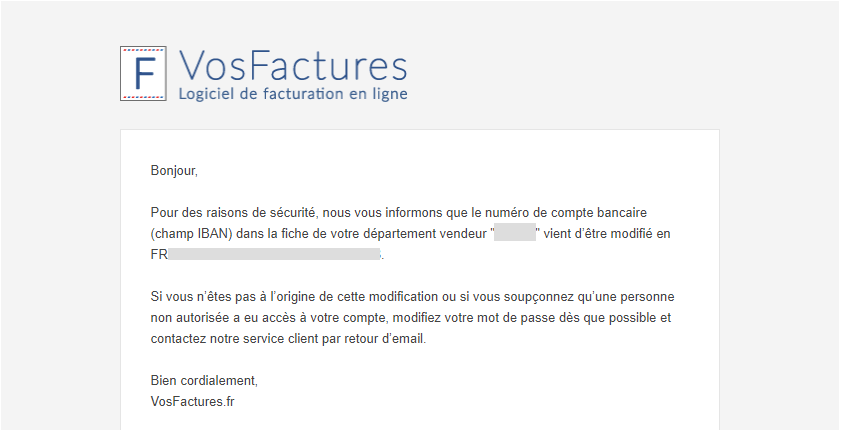 Facturation Coordonnées Bancaires IBAN Phishing