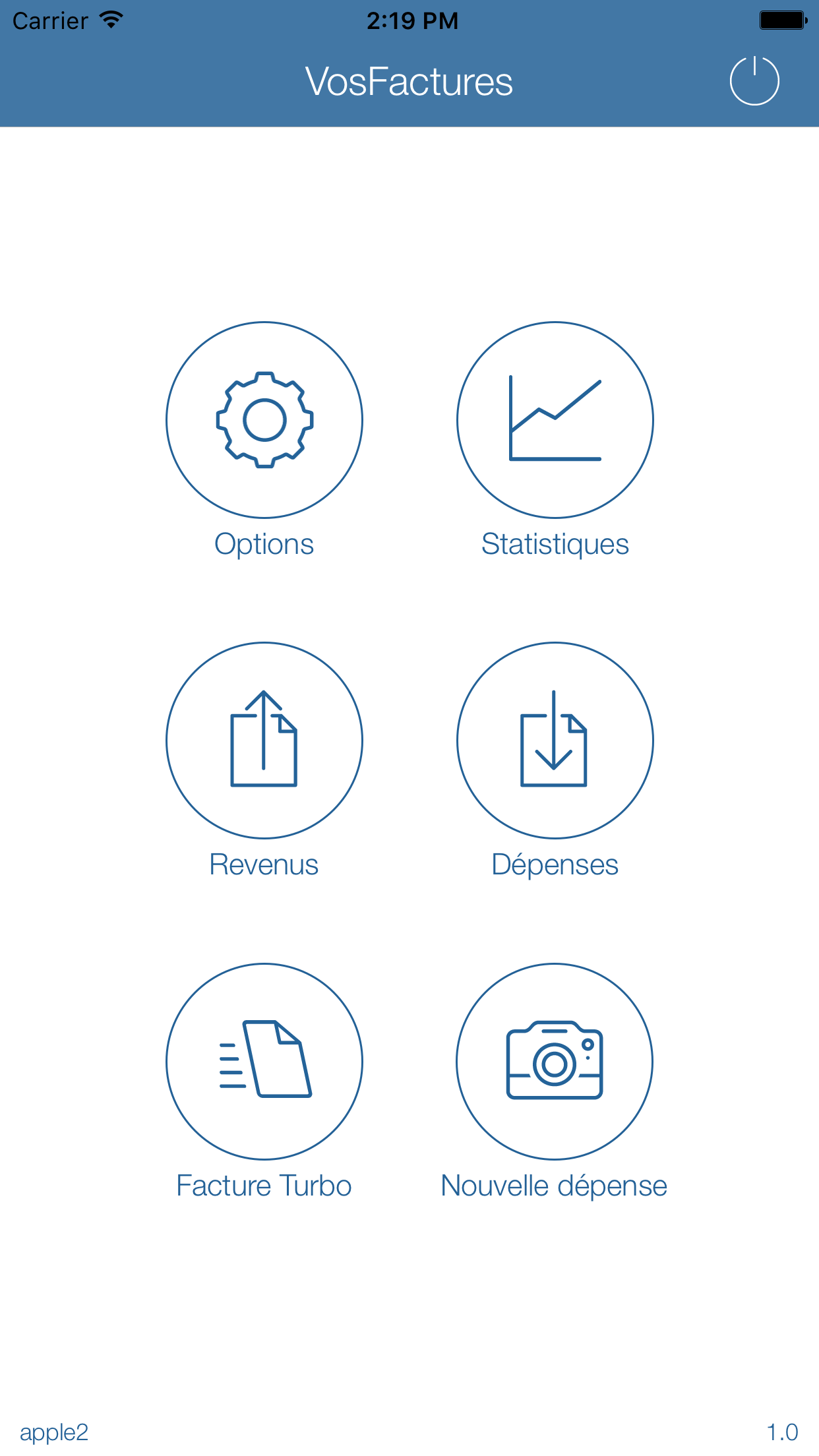 Application Mobile - Fonctions