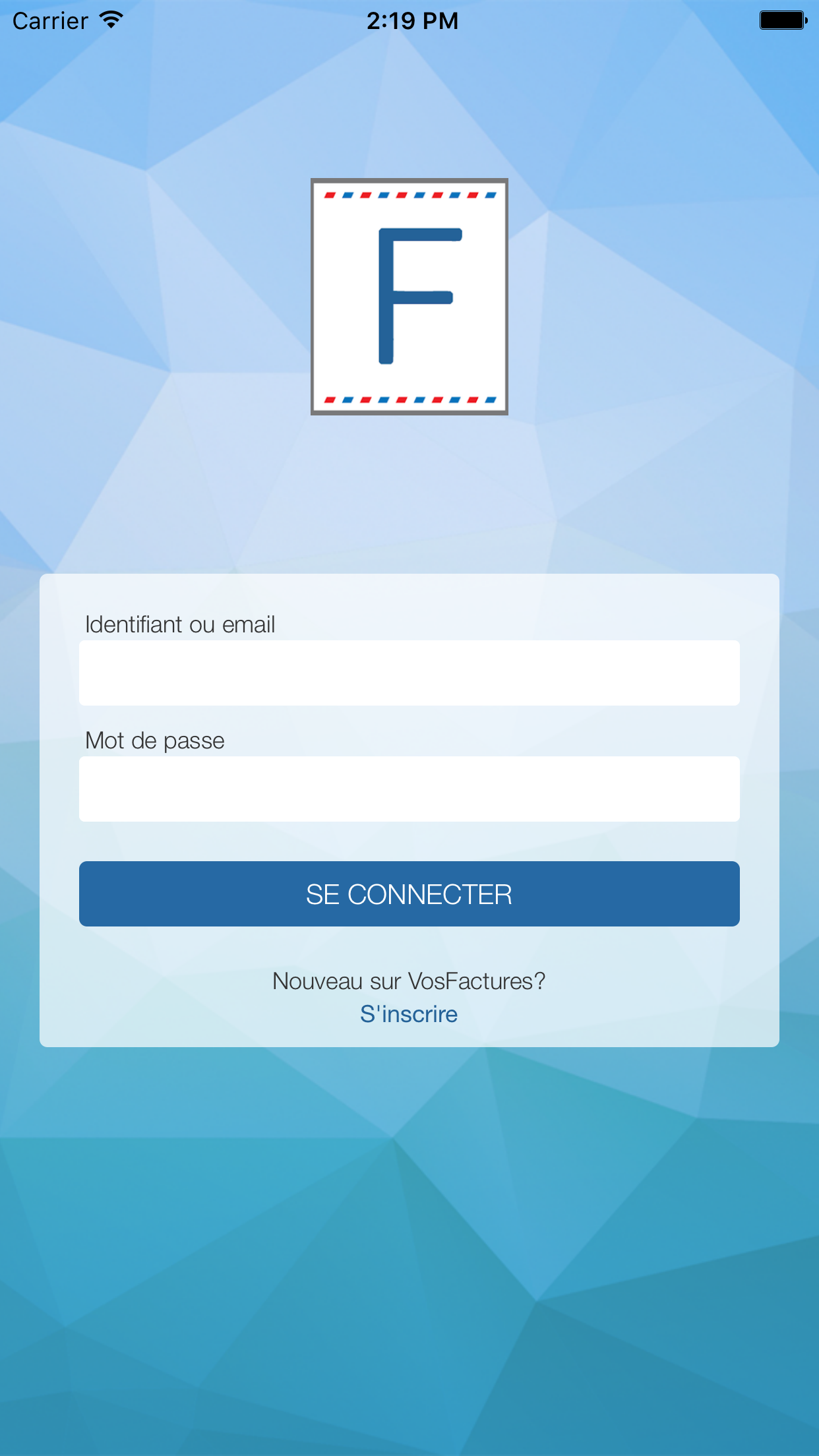 Application Mobile - Connexion