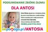 Zdjęcie małej dziewczynki z napisem Podsumowanie zbiórki złomu dla małej Antosi Dąbrowskiej