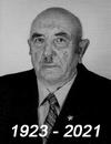 Czarno-białe zdjęcie mężczyzny z naniesionymi datami 1923 - 2021.