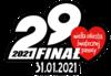 Logo Wielkiej Orkiestry Światecznej Pomocy z napisem 29 finał 31.01.2021