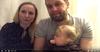 Zdjęcie meżczyzny, kobiety i małej Antosi Dąbrowskiej