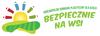 """Logo konkursu z napisem """"Ogolnopolski konkurs plastyczy dla dzieci bezpiecznie na wsi"""""""