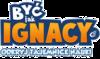 Napis Być Jak Ignacy jako logo