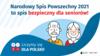 Na górze napis: Narodowy Spis Powszechny 2021 to spis bezpieczny dla seniorów! Poniżej mężczyzna i kobieta w starszym wieku. Na dole napis: Liczymy się dla Polski!