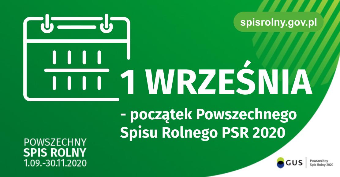 1 września - początek Powszechnego Spisu Rolnego PSR 2020