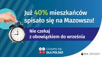 Już 40% mieszkańców spisało się na Mazowszu!